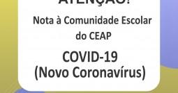 Nota à comunidade Escolar do CEAP